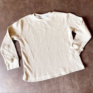 French Toast Beige Henley Shirt 4T
